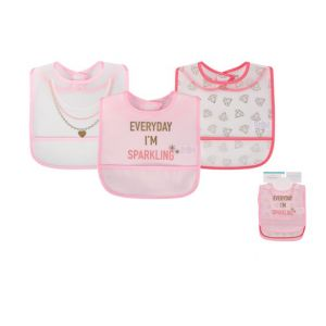 Little Treasure 3 Pcs Waterproof Bib Everyday I'M Sparkling