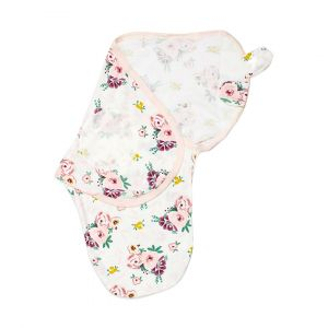 Little Sparks Baby Swaddle Flowers Pink