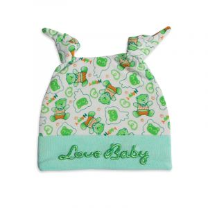 Little star Baby Knot Cap Bear Green