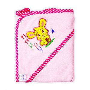 Little Star Baby Hooded Towel Happy Pink
