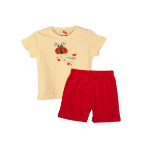 AllureP T-shirt Lime Lady Bird H-S Red Shorts