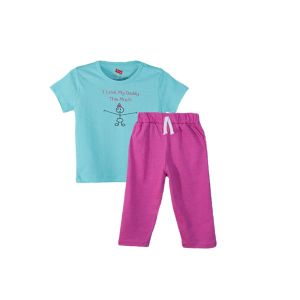 AllureP T-shirt Peacocks Plums Love Daddy Puple Trousers