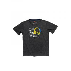 AllureP Boys T-Shirt Music Sports Grey