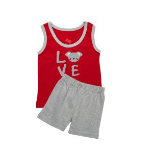 AllureP Red Love S-L Grey Shorts