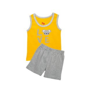AllureP Yellow Love S-L Grey Shorts