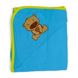 Little Sparks Baby Wrapping Sheet Bear Blue