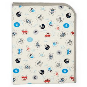 Little Sparks Baby Changing Mat Cartoons White