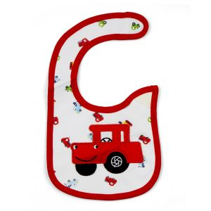 Little Sparks Baby Bib Jeep Red