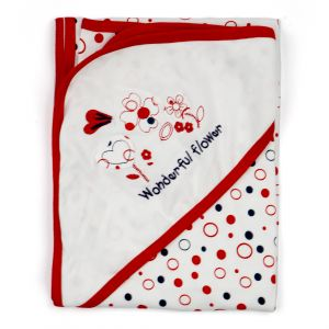 Little Sparks Cotton Wrapping Sheet Polka Dots Red