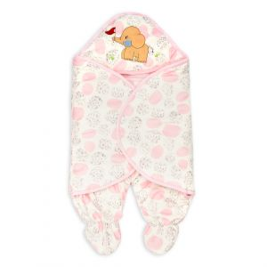 Little Sparks Baby Winter Swaddle Elephant Pink