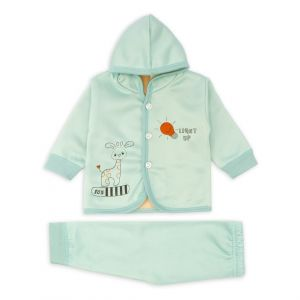 Little Sparks Baby Double Ply Hooded Suit Light Up Green