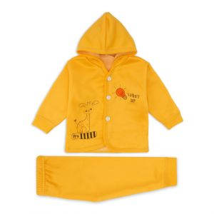 Little Sparks Baby Double ply Hooded Suit Light Up Yellow