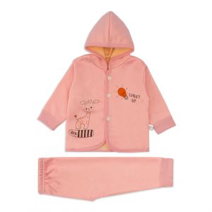Little Sparks Baby Double ply Hooded Suit Light Up Pink
