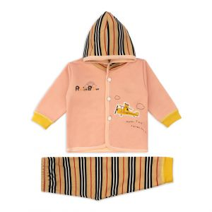 Little Sparks Baby Double ply Hooded Suit Rainbow Pink