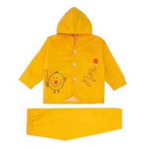 Little Sparks Baby Double ply Hooded Suit Baseball Yellow