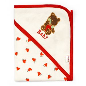 Little Sparks Wrapping Sheet Bear White