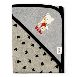 Little Sparks Wrapping Sheet Grey Bear