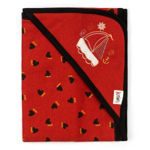 Little Sparks Wrapping Sheet Love Hearts Red