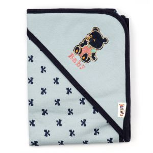 Little Sparks Baby Wrapping Sheet Blue Bear