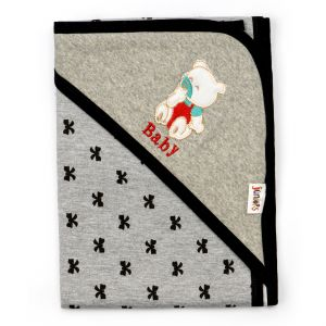 Little Sparks Wrapping Sheet Bear Grey