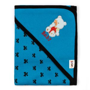 Little Sparks Wrapping Sheet Baby Bear Blue