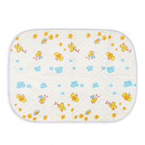 Little Sparks Waterproof Changing Sheet Bee White
