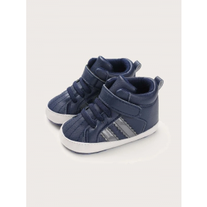 Baby Steps Shoes Grey Stripe Navy