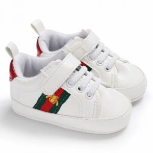 Baby Steps Shoes White & Red
