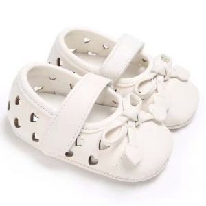 Baby Steps Shoes Heart White