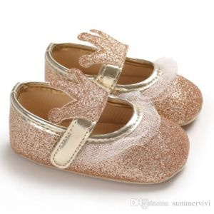 Baby Steps Shoes Shiny Crown Golden