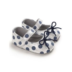 Baby Steps Shoes Polka Dots White