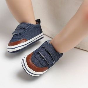 Baby Steps Shoes Star Blue & Brown