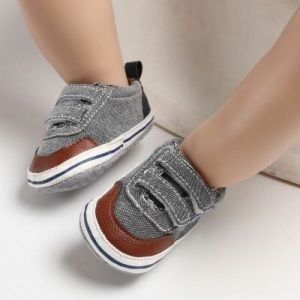 Baby Steps Shoes Star Grey & Brown