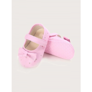 Baby Steps Shoes Heart Pink Bow