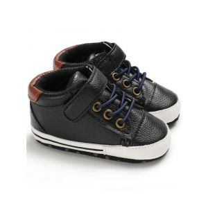 Baby Steps Shoes Brown Patch Laces Black