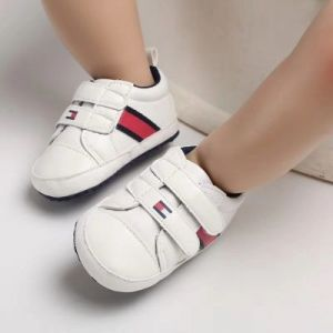 Baby Steps Shoes Tommy Red Stripe White