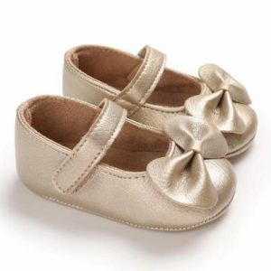 Baby Steps Shoes Bow Golden