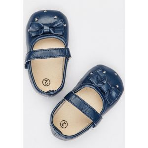 Baby Steps Shoes Heart Navy Blue