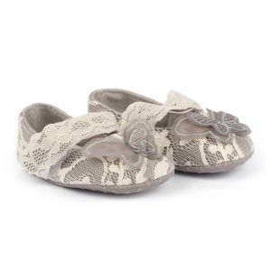 Baby Steps Shoes Butterfly Net Grey