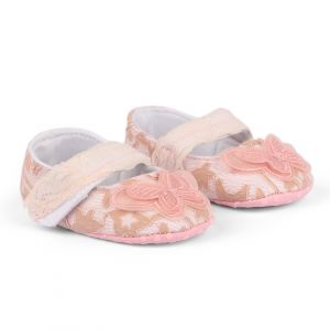 Baby Steps Shoes Butterfly Net Pink