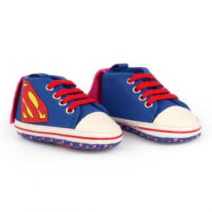 Baby Steps Shoes Superman Blue