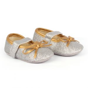 Baby Steps Shoes Shiny Silver