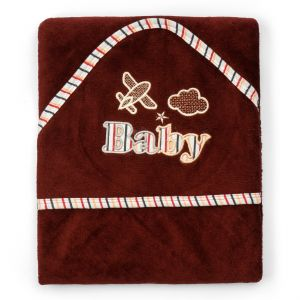 Little Sparks Baby Wrap Towel Baby Red