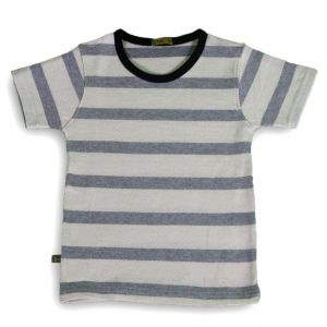 Baby Fox Tshirt Grey Stripes