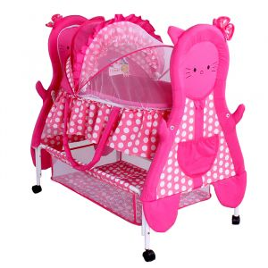 Junior Baby Craddle Kitty Pink