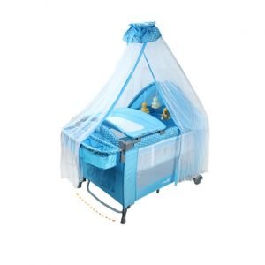 Junior Playpen Blue Dots