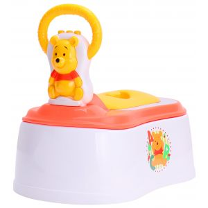 Junior Baby Potty Seat Pooh Yellow & White