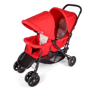 Mamalove Twin Baby Stroller Red