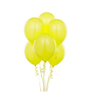 Little Sparks Plain Balloons Pack Of 100 Yellow
