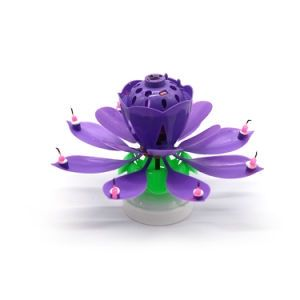 Little Sparks Flower Music Candle Purple